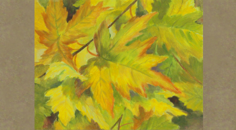kendra-burton-art-yellow-green-maple-leaves-lg